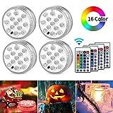 AODOOR Unterwasser Licht, RGB Multi Farbwechsel wasserdichte LED Leuchten fr Vase Base...