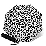 Schwarz-Weiß-Leopardenfell Double Layer Inverted Umbrellas Reverse Taschenschirm Winddicht...