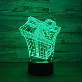 Nur 1 Stück neue Geschenk 3D visuelle Lampe LED bunte Fernbedienung Touch Nachtlampe...