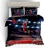 SONGHJ Bettwsche Bettbezug aus Polyester Digital 3D bedruckter Bettbezug fr Basketball Bettbezug in...