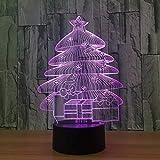 Nachtlicht 3d led weihnachtsbaum lampe wohnkultur urlaub licht wohnkultur 7 farben ändern...