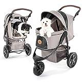 TOGfit Pet Roadster - Luxus Hundewagen & Haustier Buggy bis 32 kg - große Räder, flexible...