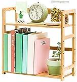 KEWEI Blumenständer für Schreibtisch, Bücherregal, Doppel-Bücherregal, Ablagefläche für...