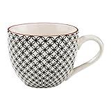 BUTLERS Retro Tasse 550ml - Schwarze Kaffeetasse Vintage Design – Hochwertige Porzellantasse,...
