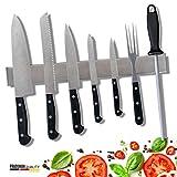 PRADUMAN® hochwertige Edelstahl Messer Magnetleiste - EXTRA STARK - Magnetischer Messerhalter...