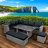 BRAST Poly-Rattan Gartenmöbel Essgruppe Lounge Set Sitzgruppe Outdoor Möbel Garten Garnitur Sofa...