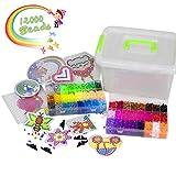 YRYM HT Bügelperlen - 12000 Stück Bügelperlen Set mit 48 Farben für Kinder - 5mm Steckperlen mit...