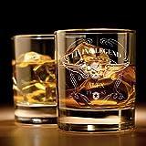 Whiskyglas mit Gravur ( Totenkopf ) | Whiskey-Glas mit massivem Boden personalisierbar mit Namen und...