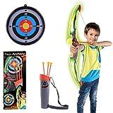 LoKauf Pfeil und Bogen Set LED Licht Bogenschießen Kinder Spielzeug Bogen Archery Set mit...