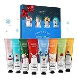Handcremes Set, Luckyfine 8 Pcs Parfümierte Hand Cream feuchtigkeitsspendend für raue,...