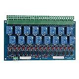 CUHAWUDBA 16 Kanal DMX Controller Relais Schalter Dimmer Kit 16 Wege Relais Schalter DJ Equipment