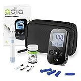 adia Blutzuckermessgerät (mg/dl) inkl. 10 Teststreifen für Diabetiker zur Selbstkontrolle des...