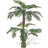 vidaXL Cycaspalme künstliche Palme Cycas Kunstpalme Kunstpflanze Kunstbaum 150cm