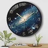 SKYROPNG Wanduhr ohne Tickgeräusche - Quarz Lautlos Große Wohnzimmer Wall Clock Runde Leicht zu...