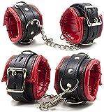Judrr Soft CZ Bequeme Lz Leder Hz Handschellen Set verstellbar Wz Handgelenk CZ Cuffs