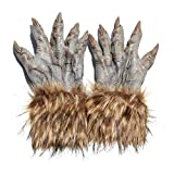 yanni Halloween Gruseliger Wolf Werwolf Klaue Handschuhe Tier Festival Cosplay Latex Horrific...