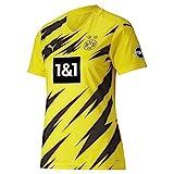 PUMA Damen T-Shirt BVB Home Shirt Replica Womens SS w.Sponsor New, Cyber Yellow-Puma Black, S,...
