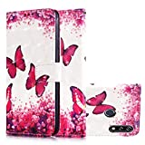 TASoker Handyhülle für LG W10 Hülle Leder Filp Wallet Case 3D lackiert Flipcase Silikon...
