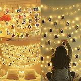 Amteker LED Foto Clip Lichterketten fr Zimmer, 100 LED 10M Bilderrahmen dekor fr innen, Haus,...
