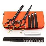Haarscheren Set Profi 5,5 Zoll Haarschneideschere Friseurscheren Effilierschere mit Kamm