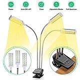 LED pflanzenlampe, Vogek 72W Grow Lampe Pflanzenlicht Vollesspektrum Wachstumslampe 144 LEDs mit...