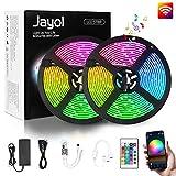 Jayol RGB LED Streifen Kit,10m, 16 Millionen Farben,steuerbar via App, SMD 5050 LED Stripes...