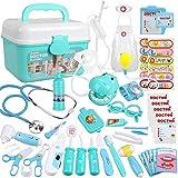 Anpro 46Stk Arztkoffer Medizinisches Spielzeug Rollenspiel Spielzeug Set, Arztkoffer Doktor Spielset...