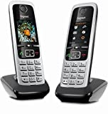 Gigaset C430HX Duo – 2 schnurlose IP-Telefone (zum Anschluss an Router oder Basisstationen -...