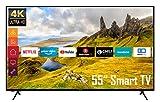 Telefunken XU55K521 55 Zoll Fernseher (Smart TV inkl. Prime Video/Netflix/YouTube, 4K UHD, HDR, HD+)...