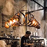 KJLARS Retro Pendelleuchte Vintage Kronleuchter Spiralelampe Hngelampe Pendellampe lampeleuchte...