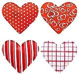 MIJOMA 4er Set Taschenwärmer in Herzform, Herz, Fingerwärmer, gegen kalte Hände im Winter