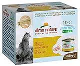 almo nature HFC Natural Light Meal Katzenfutter für ausgewachsene Katzen- Hühnerfilet 50 g x 4...
