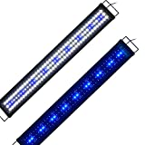 Aquarien Eco Aquarium Beleuchtung Fisch Tank Aufsetzleuchte Blau Weiß LED Lampe Leuchte 90-115cm...