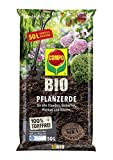 COMPO BIO Pflanzerde für Garten- und Zierpflanzen, Sträucher, Büsche und Gehölze, Torffrei,...