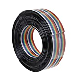 NIANNIAN 5 M Regenbogenkabel 20-poliger Dupont-Draht Mit 1,27 Mm Leitungsabstand Verbindungsdrähte...