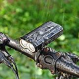 ZKKAW Fahrrad-Scheinwerfer, USB Aufladbare 2000 Lumen LED Fahrrad Frontleuchte High Bright 6 Stunden...