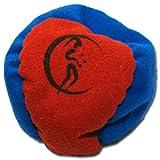 Profi Hacky Sack 2 Paneelen (Blau/Rot) Pro Freestyle Footbag! Hacky Sacks für Anfänger, ideal für...