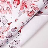 CSQ- bunt Kunstdruckpapier, Blumenmuster Dekorative Papier Paar Halskette Geschenkbox...