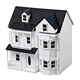 HILIROOM Wooden Dolls House Cottage, Holzklassiker viktorianischen Puppenhaus, Kinder Puppenhaus,...
