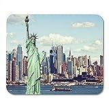 Mauspads vintage getönter effektfilter von new york skyline city mauspad für notebooks,...