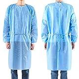 10 PCS Einweg-Kleid für Erwachsene, Langarm, Schutz für Hals und Gürtel Unsteril Polypropylen...