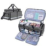 Trunab Arzttasche Medizinische Tasche Grau, Rettungstasche mit Tragbarem Sauerstoffflaschenfach...