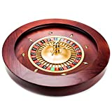 Brybelly Casino Grade Deluxe Roulette-Rad aus Holz, Red/Brown Mahogany, 18'