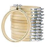 WElinks Stickrahmen-Set, Holz, Kreuzstich, Stickerei, rund, Nähwerkzeug, verstellbar, Bambus,...