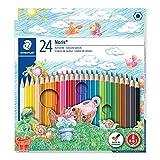Staedtler Noris Club 24 Buntstifte Kunst Künstler Malerei Skizze Zeichnung für Schule Büro Farbe...