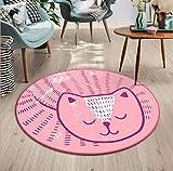 MianBao Teppich Teppich Runden Raum Computer Bereich Stuhl Kinder Cartoon Schlafzimmer rutschfeste...