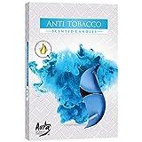 hibuy Duft Teelichter/Duftkerzen - Anti Tabak, gegen Zigarettenrauch - Brenndauer 4 Stunden - 6...
