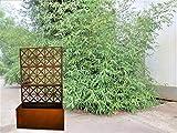 Zen Man Edelrost Rankkasten mit Rankgitter aus Metall Rost Spalier fr Kletterpflanzen Rost Garten...