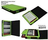 Spartechnik Grünes Case für Sony PRS-T3 - bestes Case Hülle Etui Tasche für Sony E-Book Reader...