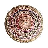 WCZ Wohnzimmer Fußmatte Dekoration, Badematten Indien importiert Jute runden Teppich handgewebten...